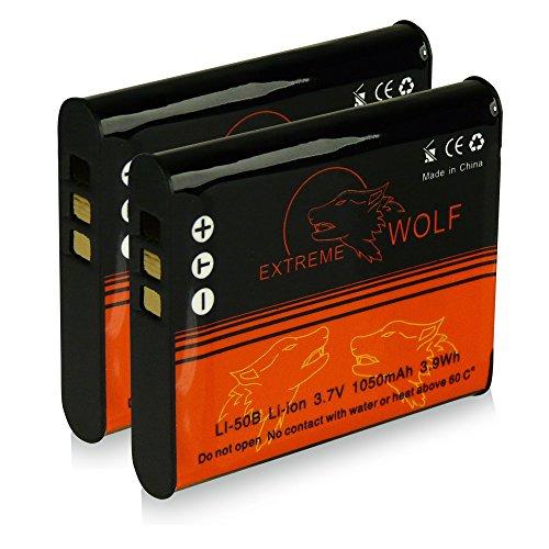 Bundle - 2x Power Batteria Olympus Li-50b | Pentax D-Li92 per Olympus mju 1010 | 1020 | 1030 SW | 9000 | 9010 | Tough-6000 | Tough-6010 | Tough-8000 | Tough-8010 etc... Pentax Optio X70 | I-10 | RZ10 | RZ18 | WG1 GPS | WG2 GPS | WG3 GPS | WG10