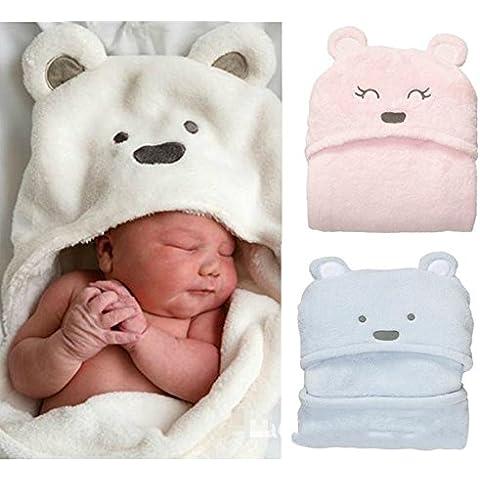 Saco de dormir bebe sleeping bag baby bebé recién nacido se revistió Cachorros mantener la forma de coral mantas de cachemir saco de dormir se puede utilizar como toallas suaves , white