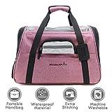 ubest Transporttasche, Katzentragetasche Hundetransportbox, Flugtasche Reisetasche für Hund Katze Hase Kaninchen Kleintiere, Rosa