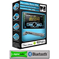 Mercedes Vito DAB Radio, JVC coche estéreo reproductor de CD USB AUX, Bluetooth Manos libres