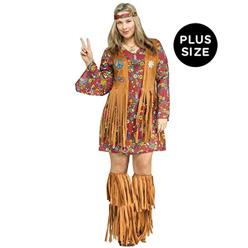Plus Size Adult Peace and Love Hippie Costume