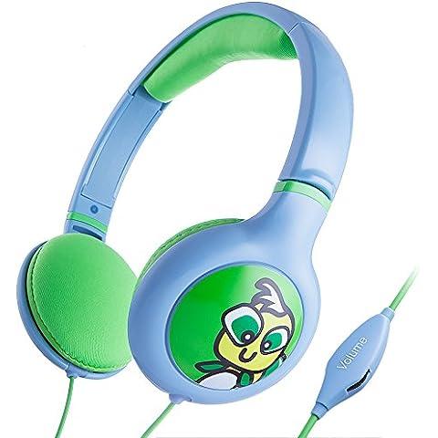 iKross 885157806435 auricular - Auriculares (Azul, Verde, Supraaural, 3.5 mm (1/8