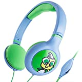 "iKross Kids Headset, Over-ear Volume Limiting Earphone Headphone for Children Boys Girls Teens for Tecwizz, BTC Flame + UK, Dragon Touch Y88X Plus, Fusion5, Alldaymall 7"" Kids Tablets, Apple iPhone iPad, Smartphones, MP3 Players, Laptops, PC - Blue"