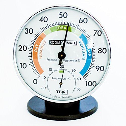 ANALOG Thermo-Hygrometer mit Komfort Zonen 45.2033. GB
