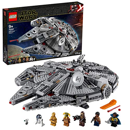 LEGO 75257 Star Wars Millennium Falcon Starship Construction Set, with Finn, Chewbacca, Lando Calrissian, Boolio, C-3PO, R2-D2 and D-O, The Rise of Skywalker Collection, Multicolour Best Price and Cheapest