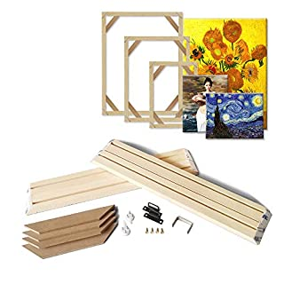 ASENART Natural Wood Frame for Canvas Painting Wall Art DIY Wooden Stretcher Bars Photo Poster Frames (12