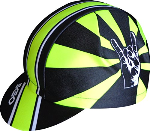 EKEKO SPORT Gorra Ekeko Lagos. Gorra de Ciclismo Corte Racing. Ciclismo, Running, Triatlon y Trailrunning. 100% Poliester Racecut. (Amarilla/Negra)