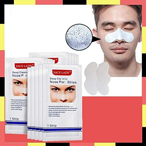 Deep Pore Cleansing Patch, Nasenmasken-Mitesserentfernungs-Patch 24 Stück, Gesichtsmaske Akne-Mitesser-Maske, Make-up-Entferner-Nasenpaste -