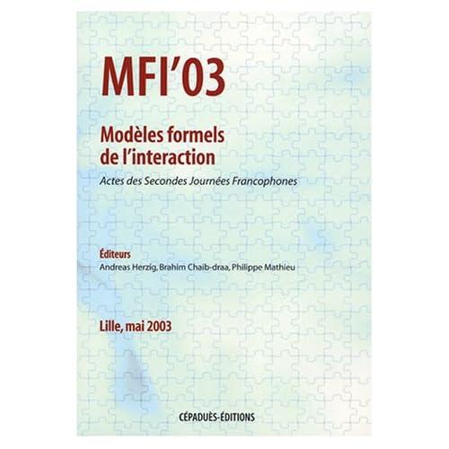 Modèles formels de l'interaction