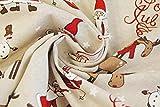 Stoffetraum Dekostoff süße Weihnachts- u. Schneemänner,