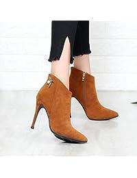 khskx-europe y los Estados Unidos señaló Martin botas de Stiletto zapatos de tacón alto