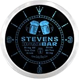 ncp1127-b STEVENS Home Bar Beer Pub LED Neon Sign Wall Clock Uhr Leuchtuhr/ Leuchtende Wanduhr