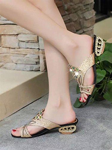 pengweiSandali freddi sandali della signora della bocca dei pesci di modo di estate 2