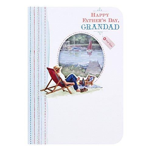 Hallmark Grandad Vater 's Day Karte Happy Time–Medium (Hallmark Ornament Zeit)