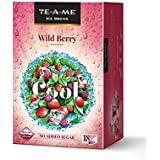 TE-A-ME Ice Brews Cold Brew Ice Tea, Wild Berry, 18 Pyramid Bags