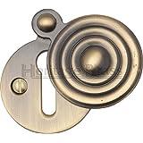 M.Marcus - Geriffelte Schlüsselloch Abdeckung - Antik Messing