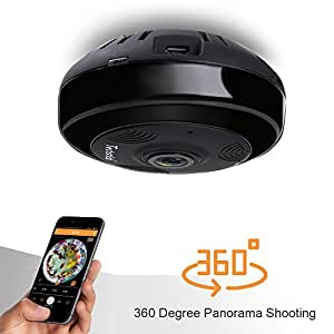 Techstick 960P Wireless Security Camera WiFi IP Camera Home Indoor Surveillance System Webcam Baby Pet Dog Monitor, 360 Degree Wide Angle, IR Night Vision, Remote view, Two-Way Audio, Motion Detection Alert, Video Recording & Playback