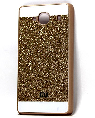 Gold Glitter sparkle hard back case cover for Xiaomi Redmi 2 / Mi Redmi 2 Prime ( XIAOMI MI2 )