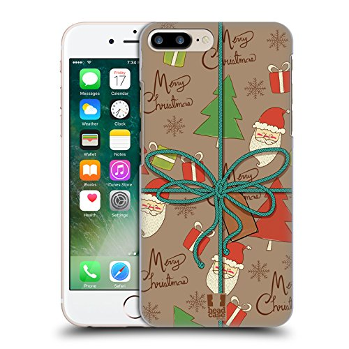 Head Case Designs Hohoho Regali Di Natale Cover Retro Rigida per Apple iPhone 7 Plus / 8 Plus Scarabocchio