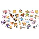Imanes de nevera para niños de animales de granja–31espuma imanes para niños–juguetes educativos juguetes de aprendizaje para bebé–para 2años