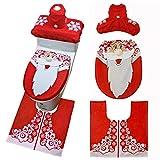 Hunpta - Juego de 3 fundas para tapa de inodoro, diseño de muñeco de nieve B