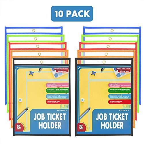 ter 25,4 x 34,3 cm, durchsichtig, trocken abwischbare Taschen, wiederverwendbar 10er-Pack ()