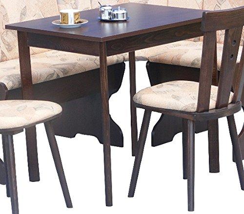 Küchentisch ausziehbar wengefarbig - günstiger Esstisch 80(120)x60cm, Höhe 75cm wenge - 2541