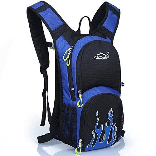 Tofern Multiuso 12 Litri Zaino da Trekking Outdoor Donna e Uomo Unisex Impermeabile per Campeggio Ciclismo Escursionismo Sci Pesca Borsa da Viaggio Zainetto, Rosso blu
