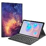 Fintie Tastatur Hülle für Samsung Galaxy Tab S6 10.5 2019 (Kompatibel mit S Pen kabelloser Ladefunktion) - Ultradünn Keyboard
