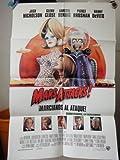 Original Spanish Movie Poster Mars Attacks Jack Nicholson Glenn Close Annette Bennig