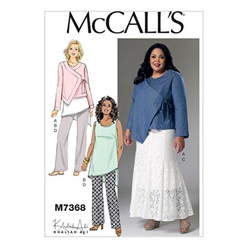 McCall 's Muster Misses/Damen Jacke Tunika Rock und Hose, Größe RR 18W–24W (18w-24w-jacke)