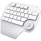Tastiera Meccanica, Tastiera Ergonomica Designer Smart Dial Tastiera Personalizzabile per Software di Progettazione PS Windows,Bianca