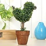Bluelover Künstliche Topfpflanzen Pflanze Kunststoff Garten Rasen Ball Hecke Baum Topf Schreibtisch Hauptdekor-#6