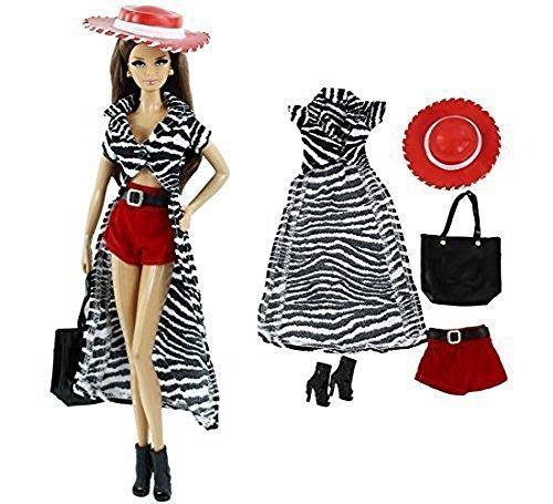 t Sexy Fashion Mantel Shorts Tasche Schuhe + Hut Mode Kleidung Outfit für Barbie Doll Geburtstag Geschenk (Barbie Geburtstags-outfit)