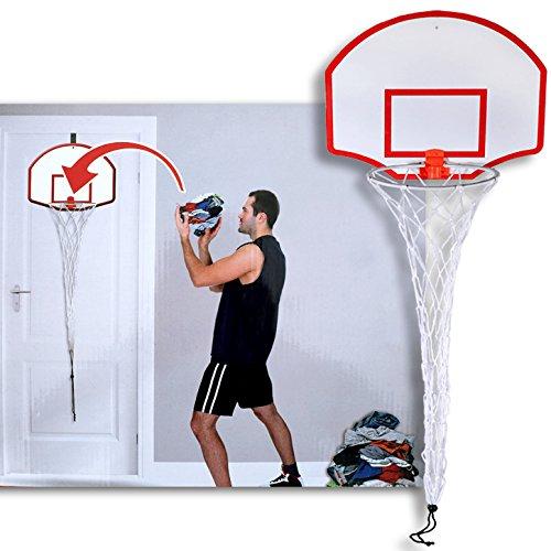(018) Wäschenetz Wäschekorb Basketball Wäsche Korb Netz Wäschesack für Tür
