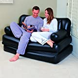 Nashware 5 in 1 Inflatable Sofa Air Bed Couch with Free Electric Pump & Carry Bag