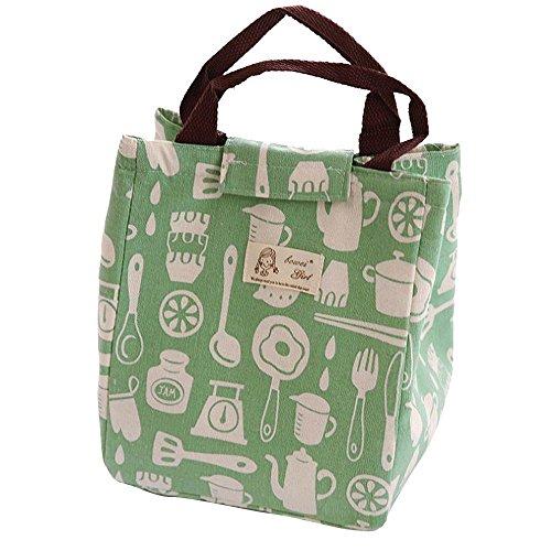 Waselia bento sacchetto serie dolce lavabile isolante portatile pranzo tote bag ragazza scuola da pranzo
