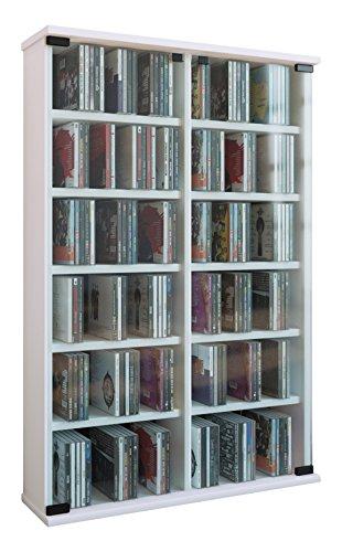 """Preisvergleich Produktbild VCM Regal DVD CD Rack Turm Medienregal Medienschrank Aufbewahrung Schrank Holz Standregal Möbel in 6 Farben """"Roma"""""""