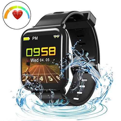 LUXSURE Fitness Armband Fitness Trackers mit Pulsmesser Aktivitätstracker Wasserdicht IP68