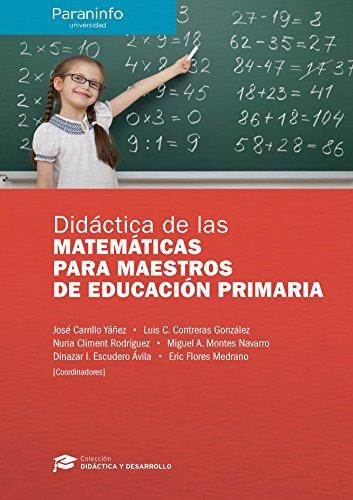 Didáctica de las Matemáticas para maestros de Educación Primaria//Colección: Didáctica y Desarrollo - 9788428337540