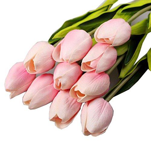 amlaiworld-fiori-artificiali10pcs-tulipano-artificiale-fiore-lattice-real-touch-home-decor-rosa