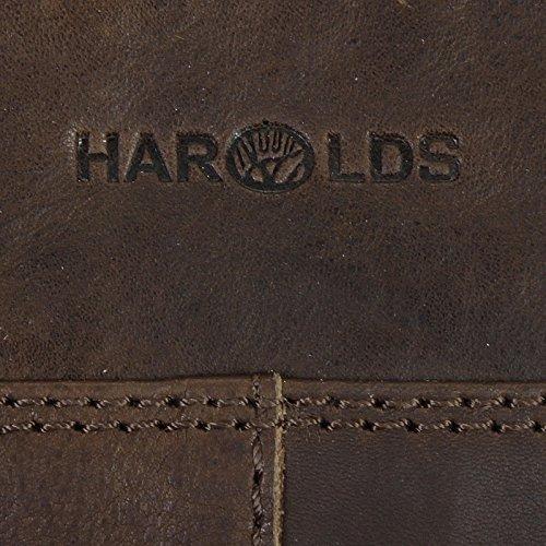 Harolds Pull Up borsa a tracolla pelle 27 cm Midnight