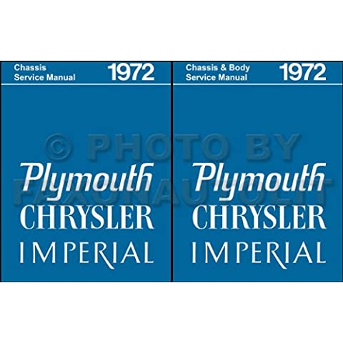 1972 PLYMOUTH REPAIR SHOP & SERVICE MANUAL & BODY MANUAL INCUDES: Road Runner, Grand Coupe, Duster (40), Valiant, 'Cuda, & Barracuda, Gran Sedan, Gran Coupe, Fury (I, II, & III), Suburban, Sport & Custom Suburban 72