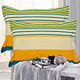 """HighLife Ahmedabad Cotton Luxurious 2 Piece Pillow Cover Set (Blue/Green)- 17""""x 27"""""""