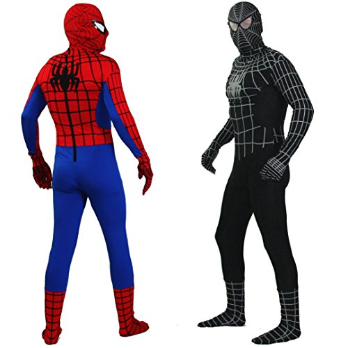 (Catsuit Spiderman Kostüm Modell: Red Spiderman Größe: L)