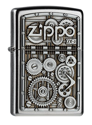 Zippo 2004497 Gear Wheels Feuerzeug, Messing, Silber one Size