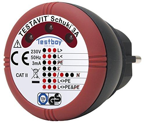 Testboy TVS 3A Steckdosenprüfgerät, 2220006