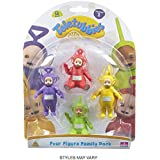 Teletubbies Four Figure Family Pack Figurines Playset Brand New