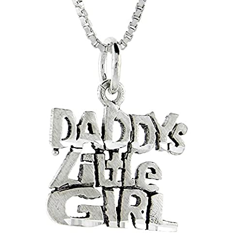 In argento Sterling con scritta Daddy's Little Girl Talking pendente