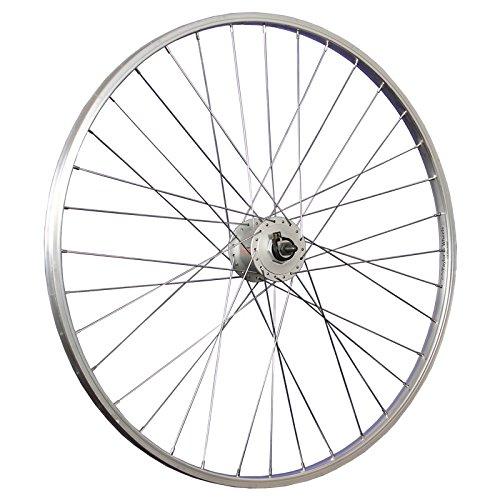 Taylor-Wheels 28 Zoll Vorderrad Shimano Nabendynamo Nexus DH-C3000-3N - silber (Shimano Speichen)